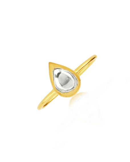 Kundan Diamond Teardrop Ring