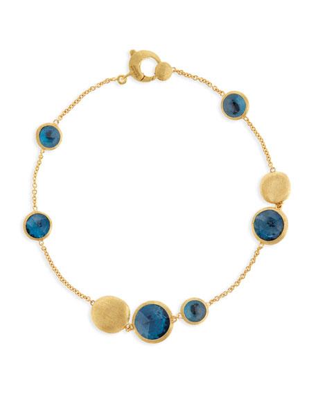 18k Gold Jaipur London Blue Topaz Station Bracelet