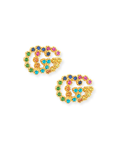 Run G Medium Stud Earrings
