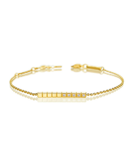 Ice Cube Diamond Bracelet in 18K Yellow Gold