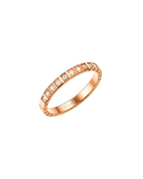 Chopard Ice Cube Mini Diamond Ring in 18K Rose Gold, Size 52