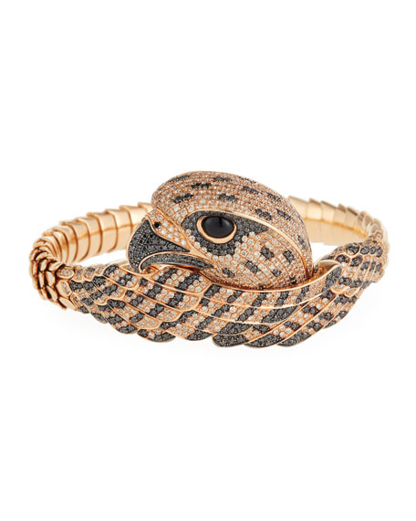 Roberto Coin 18k Cognac Diamond Falcon Bangle Bracelet