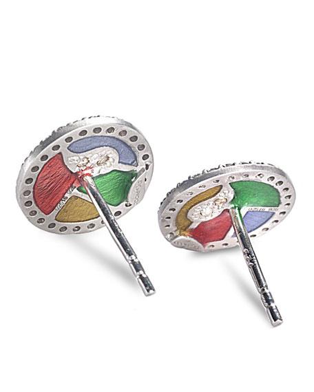 COOMI Sagrada Familia Create Beauty Stud Earrings with Diamonds