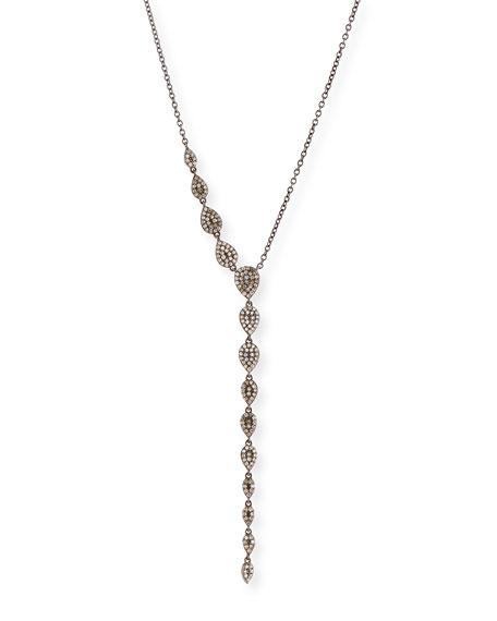 Siena Lasker Diamond Teardrop Lariat Necklace