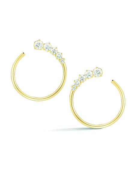 Jemma Wynne Prive Diamond Hoop Earrings in 18K Gold