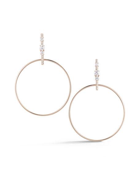 Jemma Wynne Prive Diamond Bar Hoop Earrings