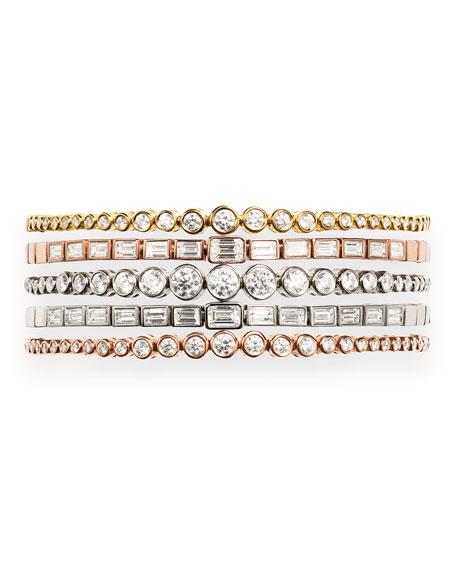 Jemma Wynne Prive Luxe Diamond Slider Bracelet in 18K Rose Gold