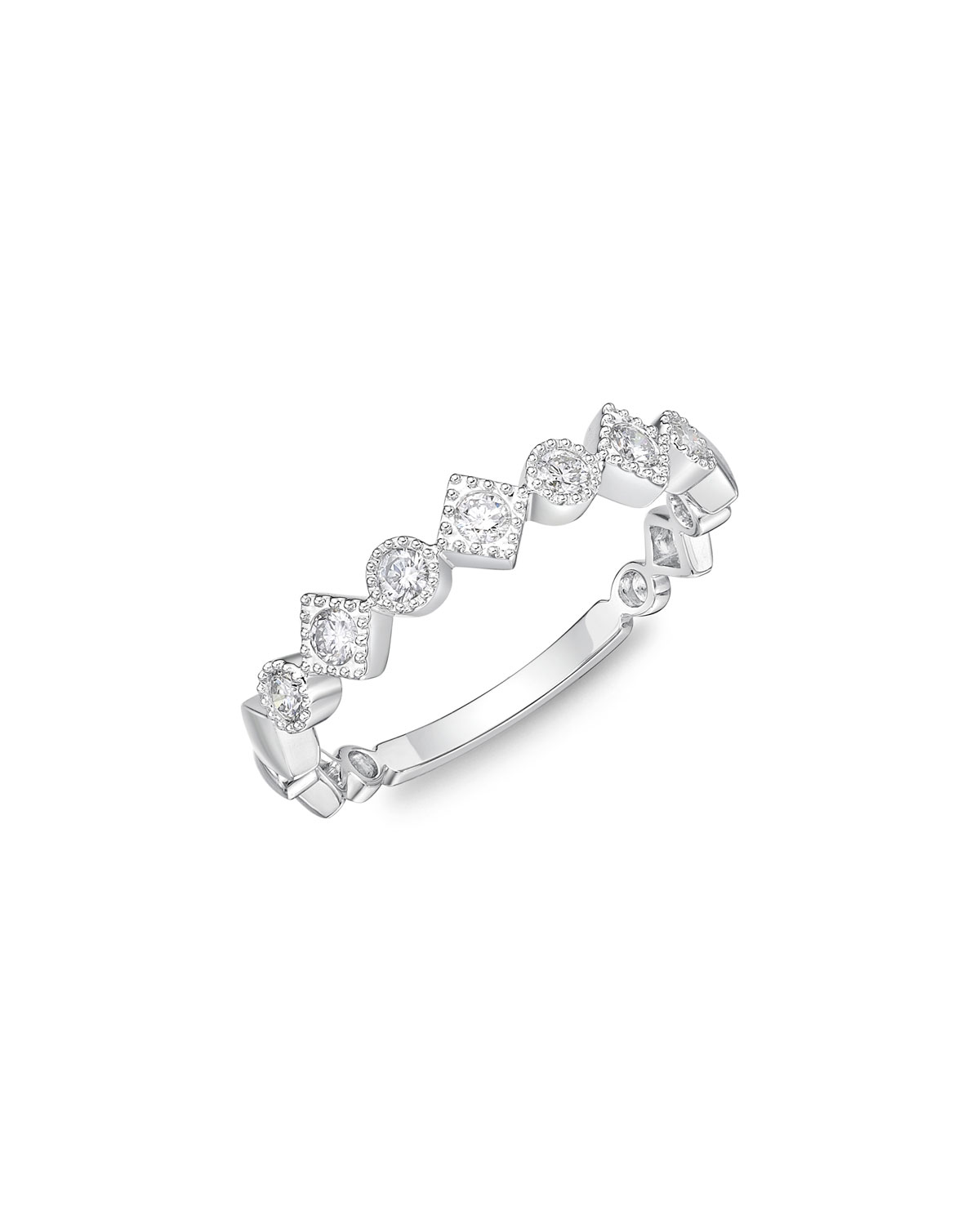 Memoire Stack Em Up Marquis Band Ring with Diamonds sSajSdLso
