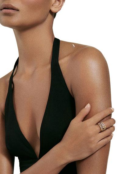 Novella 18k Multi-Stack Ring, Diamond/Sapphire, Size 7