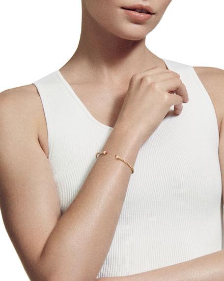 18k Gold CableSpira® Bracelet w/ Madeira Citrine, Size M
