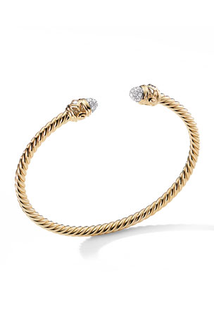 David Yurman Renaissance 18k Bracelet w/ Diamonds, Size L
