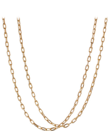 "18k Madison Thin Chain Link Necklace, 36""L"