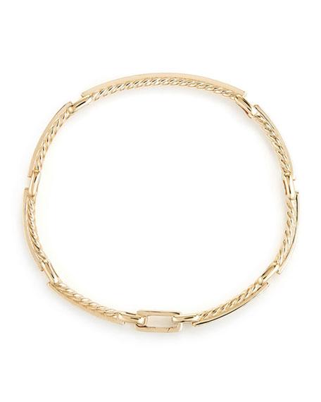 Petite Pave Diamond Link Bracelet in 18k Yellow Gold, Size Medium