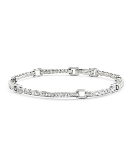 David Yurman Petite Pavé Diamond Link Bracelet in