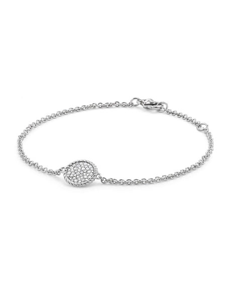 18K White Gold & Pavé Diamond Cable Bracelet