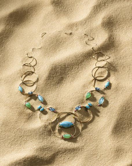18k Prisma Multi-Circle Link Necklace in Portofino