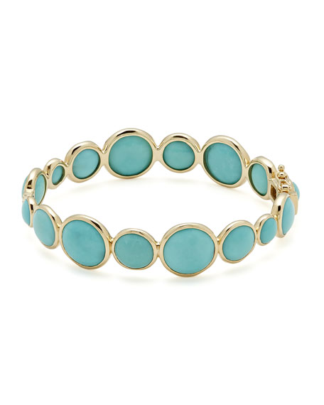 18k Lollipop® Hinged Bangle in Turquoise