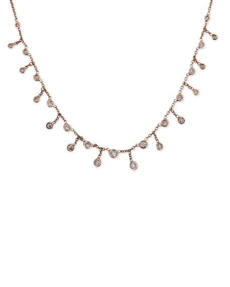 Jacquie Aiche 14k Rose Gold Diamond Shaker Necklace