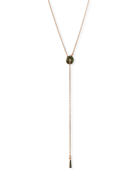Green Diamond Adjustable Circlet Lariat Necklace