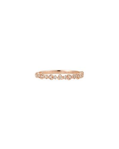 14k Diamond Rose Gold Vine Ring  Size 7