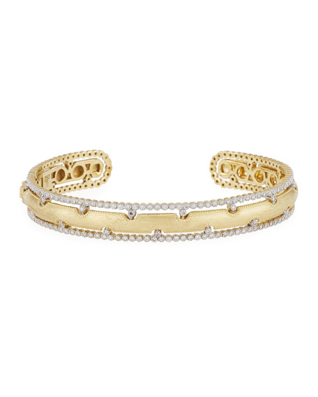 Jude Frances 18k Provence Diamond Narrow Cuff