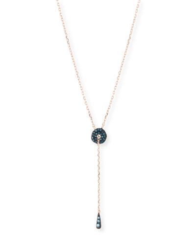 Blue Diamond Adjustable Circlet Lariat Necklace