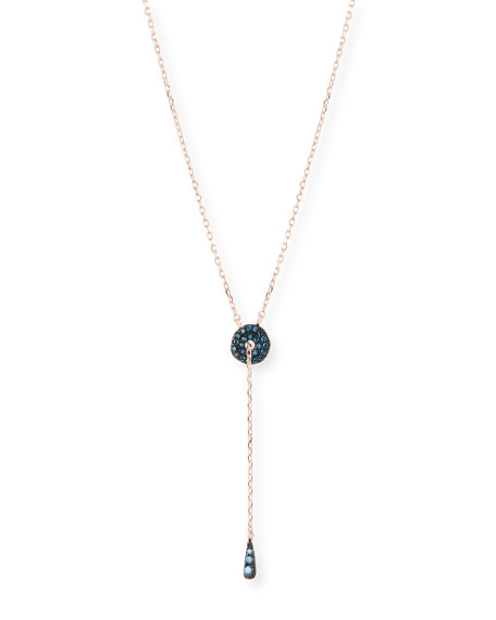Blue Diamond Adjustable Circlet Lariat Necklace