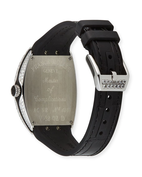Image 5 of 5: Franck Muller Lady Vanguard Watch with Diamonds & Alligator Strap