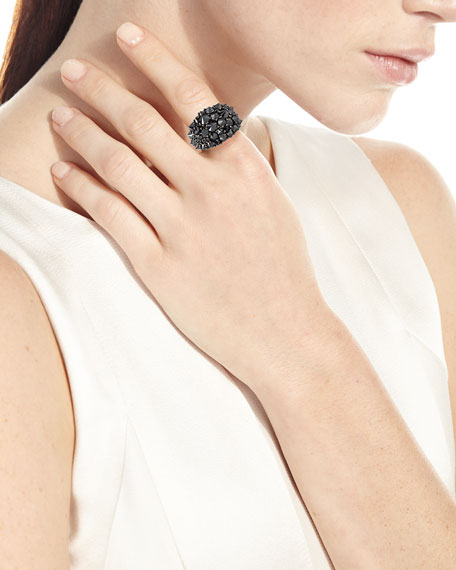 18k Spiked Black Diamond Ring