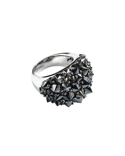 18k Spiked Black Diamond Ring