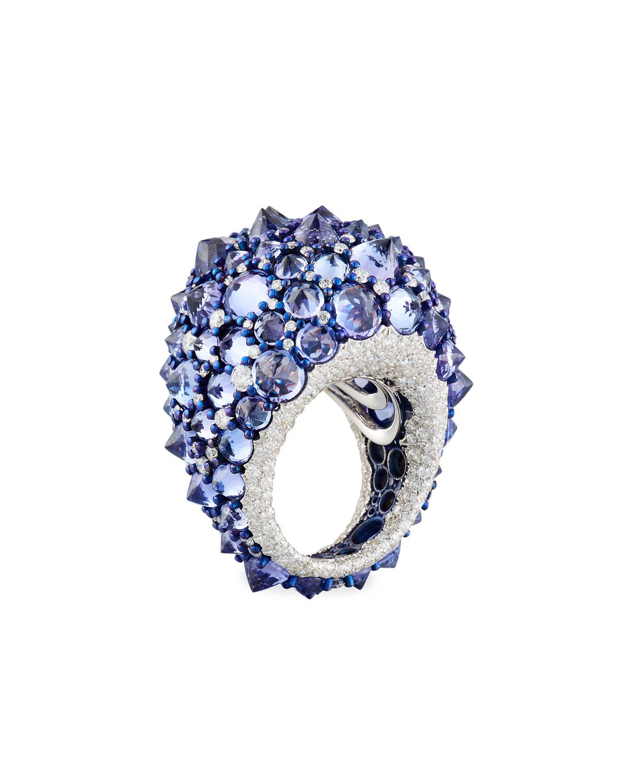 Mattioli 18k Spiked Black Diamond Ring xaBcVjolU