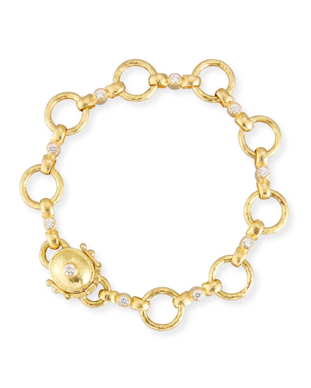 Elizabeth Locke 19k Diamond Celtic Link Necklace tcsvtUUHl