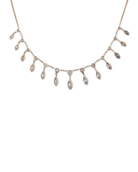 14k Diamond Marquise Shaker Necklace