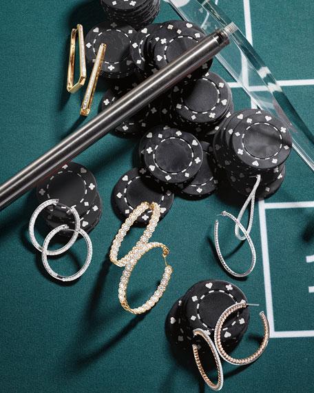 Memoire 18KWG Medium Diamond Pave Twist Hoop Earrings