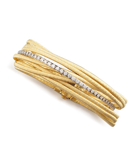 Marco Bicego Diamond Cairo 18k Nine-Strand Bracelet