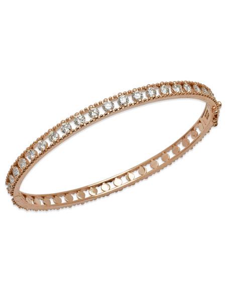 Staurino Allegra 18k Rose Gold Diamond Bangle Bracelet