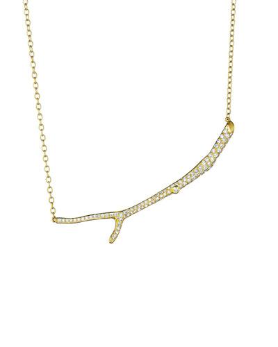 Wonderland 18k Diamond Twig Necklace