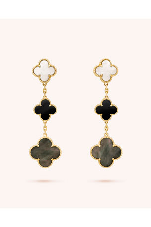 Van Cleef & Arpels Magic Alhambra Earrings, 3 Motifs