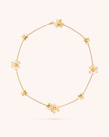 Van Cleef & Arpels Frivole Necklace, 9 Flowers