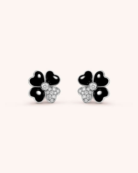 Van Cleef & Arpels Cosmos Onyx Earrings
