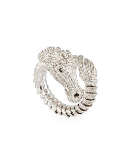 Roberto Coin 18k Diamond Pave Horse Ring, Size