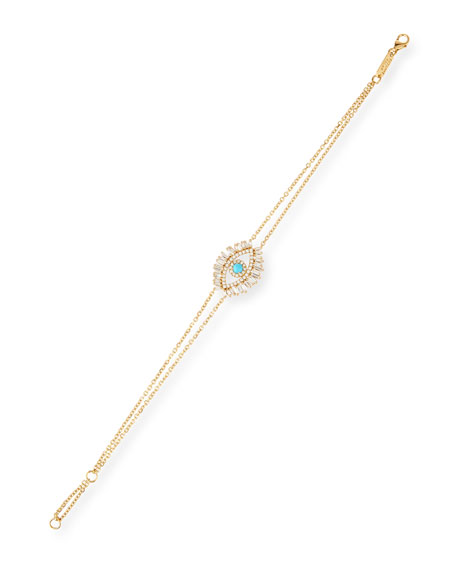 18k Evil Eye Diamond & Turquoise Bracelet
