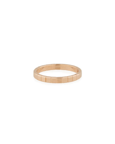 18k Rose Gold Ice Cube Ring  Size 53