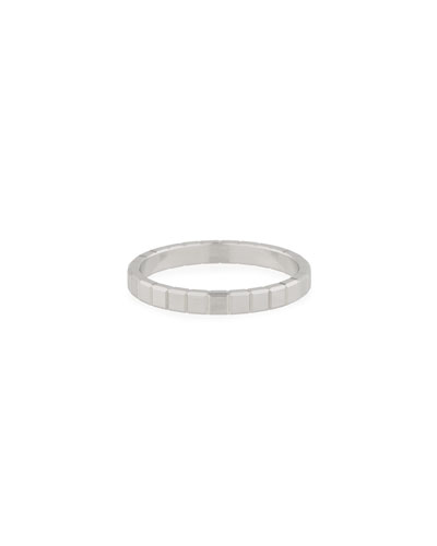18k White Gold Ice Cube Ring  Size 53