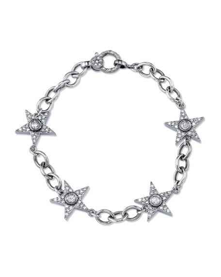 Sheryl Lowe Diamond Star Eternity Bracelet