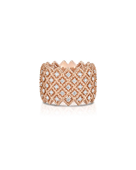 Roberto Coin Barocco Five-Row Ring with Diamonds in