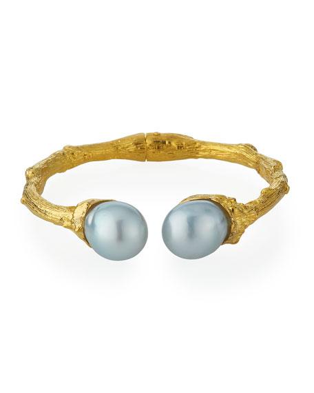 K Brunini 18k Twig Cuff w/ Pearls