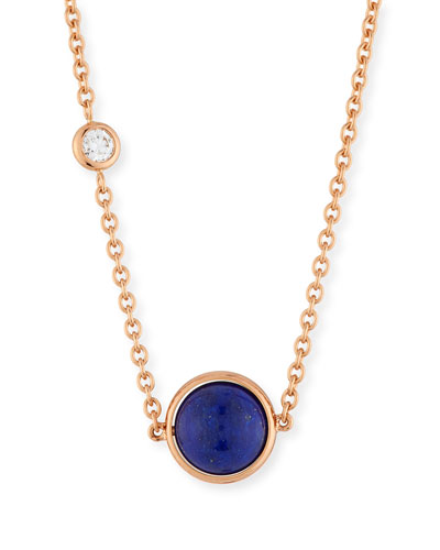 18k Possession Lapis Pendant Necklace