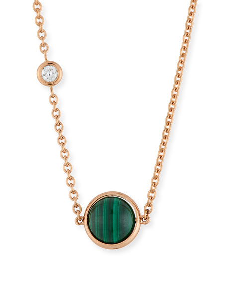 18k Possession Malachite Pendant Necklace