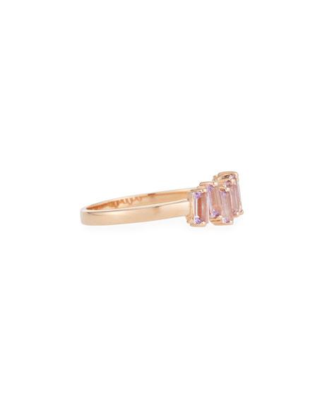 KALAN by Suzanne Kalan 14k Gold Rose de France Amethyst Fireworks Band Ring, Size 6